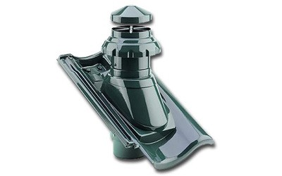 Fleck PVC Sanitärlüfter DN 125 für Braas RUBIN 15